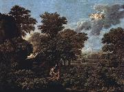 Nicolas Poussin Hut and Well on Rugen (mk10) oil painting reproduction