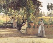 Silvestro lega The Pergola (nn02) oil painting