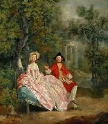 Lady and Gentleman in a Landscape (mk08), Thomas Gainsborough