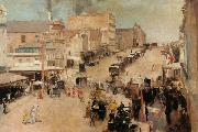 Tom roberts Bourke Street,Melbourne (nn02) oil painting