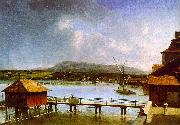 Francois  Ferriere The Old Port of Geneva USA oil painting reproduction