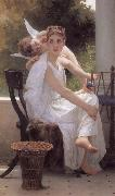 Adolphe William Bouguereau Work Interrupted (mk26) oil painting reproduction