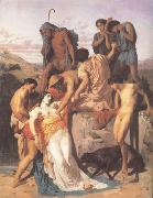 Zenobia.found by shepherds on the Banks of the Araxes  (mk26), Adolphe William Bouguereau