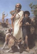 Homer and His Guide (mk26), Adolphe William Bouguereau