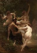 Nymphs and Satyr (mk26), Adolphe William Bouguereau