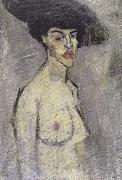 Nude with a Hat (mk39, Amedeo Modigliani