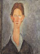 Portrait of a Student (mk39), Amedeo Modigliani