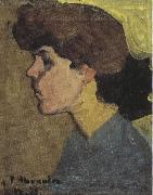 Head of a Woman in Profile (mk39), Amedeo Modigliani