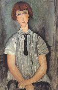 Young Woman in a Striped Blouse (mk39)