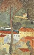 Landscape at Cagnes (mk39), Amedeo Modigliani