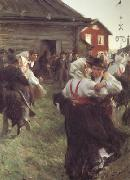 Anders Zorn Midsummer Dance (nn02) oil painting