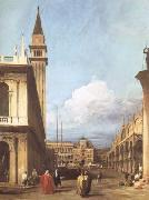 Canaletto The Piazzetta towards the Torre dell'Orologio (mk25) oil painting reproduction