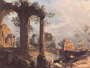 A Caprice View with Ruins (mk25), Canaletto