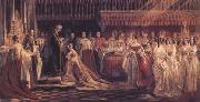 Queen Victoria Receiving the Sacrament at her Coronation 28 June 1838 (mk25)