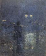 Fifth Avenue Nocturne (mk43), Childe Hassam
