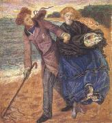 Dante Gabriel Rossetti Writing on the Sand (mk28) oil painting reproduction