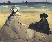 At the Beach (mk40), Edouard Manet