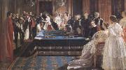 Edward Matthew Ward The Investiture of Napoleon III with the Order of the Garter 18 April 1855 (mk25) oil painting artist