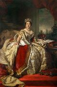 Franz Xaver Winterhalter Queen Victoria (mk25) oil painting reproduction