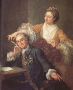 David Garrick and his Wife (mk25), HOGARTH, William