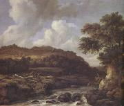 Jacob van Ruisdael A Mountainous Wooded Landscape with a Torrent (nn03) oil painting artist