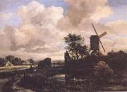 Jacob van Ruisdael Windmill by a Stream (mk25) oil painting artist