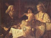 Jan victors Abraham and the three Angels (mk33) oil painting artist