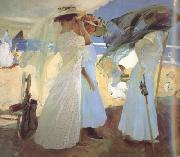 Joaquin Sorolla Under the Awning (Zarauz) (nn02) oil painting artist
