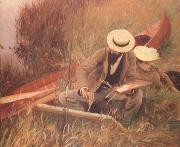 Paul Helleu Sketching with his Wife (nn03), John Singer Sargent