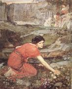 Study:Maiidens picking Flowers by a Stream (mk41)