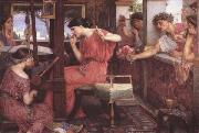 John William Waterhouse Penelope and thte Suitor (mk41) oil painting
