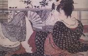Kitagawa Utamaro Loves (from the Poem of the Pillow) (nn03) oil painting
