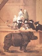 Pietro Longhi Exhibition of a Rhinoceros at Venice (nn03) oil painting reproduction