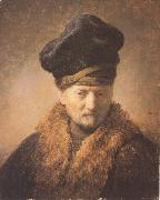Bust of an old man in a fur cap (mk33), REMBRANDT Harmenszoon van Rijn