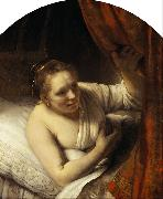 A young Woman in Bed 9mk33), REMBRANDT Harmenszoon van Rijn