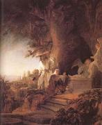 Christ and St Mary Magdalene at the Tomb (mk25), REMBRANDT Harmenszoon van Rijn
