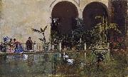 Raimundo de Madrazo y  Garreta Pool in the Alcazar of Seville (nn02) oil painting