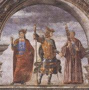 Domenico Ghirlandaio and Assistants,The Roman heroes Decius Mure,Scipio and Cicero (mk36), Sandro Botticelli