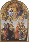 Coronation of the Virgin,with Sts john the Evangelist,Augustine,jerome and Eligius or San Marco Altarpiece (mk36)
