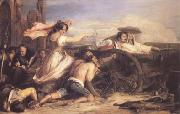 Sir David Wilkie The Defence of Saragossa (mk25) oil painting