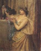 Sir edward coley burne-jones,Bt.,A.R.A.,R.W.S Portrait of Mrs.William J.Stillman,nee Marie Spartali (mk37) oil painting