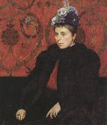 Sir james dromgole linton,P.R.I. Portrait of Mrs Minie Sidney,aged 39 (mk37) oil painting