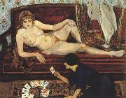 Suzanne Valadon Future Unveiled or The Fortune Teller (mk39) oil painting