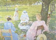 Theo Van Rysselberghe Family in an Orchard (nn02) oil painting