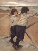 Valentin Aleksandrovich Serov The Children Shasha and Iura Serov (nn02) oil painting