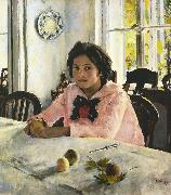 Valentin Aleksandrovich Serov Girl with Peaches (nn02) oil painting