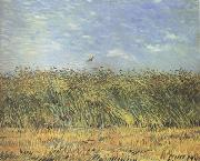 Wheat Field with a Lark (nn04), Vincent Van Gogh