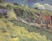 Thatched Cottages (nn04), Vincent Van Gogh