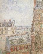 View of Paris from Vincent's Room in t he Rue Lepic (nn04), Vincent Van Gogh