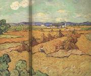 Wheat Stacks with Reaper (nn04), Vincent Van Gogh